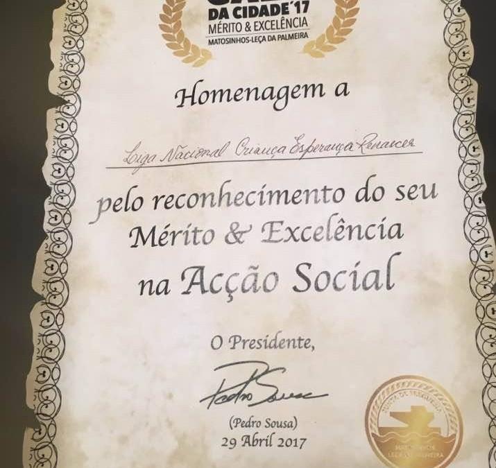 """Liga Renascer homenageada na """"Gala da Cidade"""""""