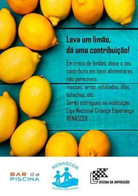 """Campanha """"Leva um limão, dá uma contribuição!"""" apoia a Renascer"""