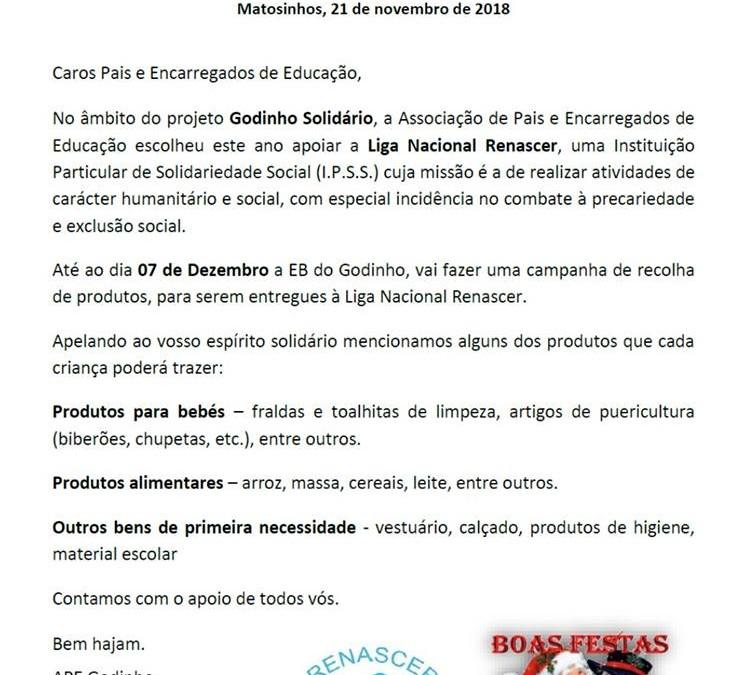 """""""Godinho Solidário"""" apoia a nossa Instituição"""